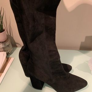 Black cole haan knee high boots